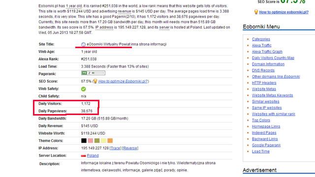 Eoborniki.pl liderem w Powiecie - http://www.statscrop.com/www/eoborniki.pl