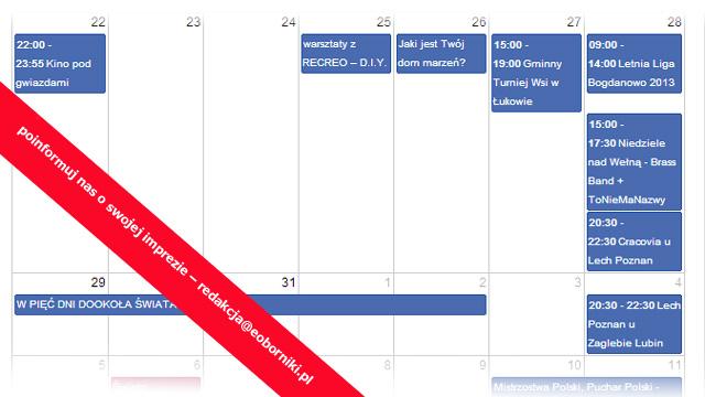 Organizujesz imprezę – zgłoś ją w naszym kalendarzu