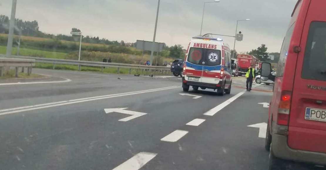 Wypadek w Chludowie. 4 osoby ranne