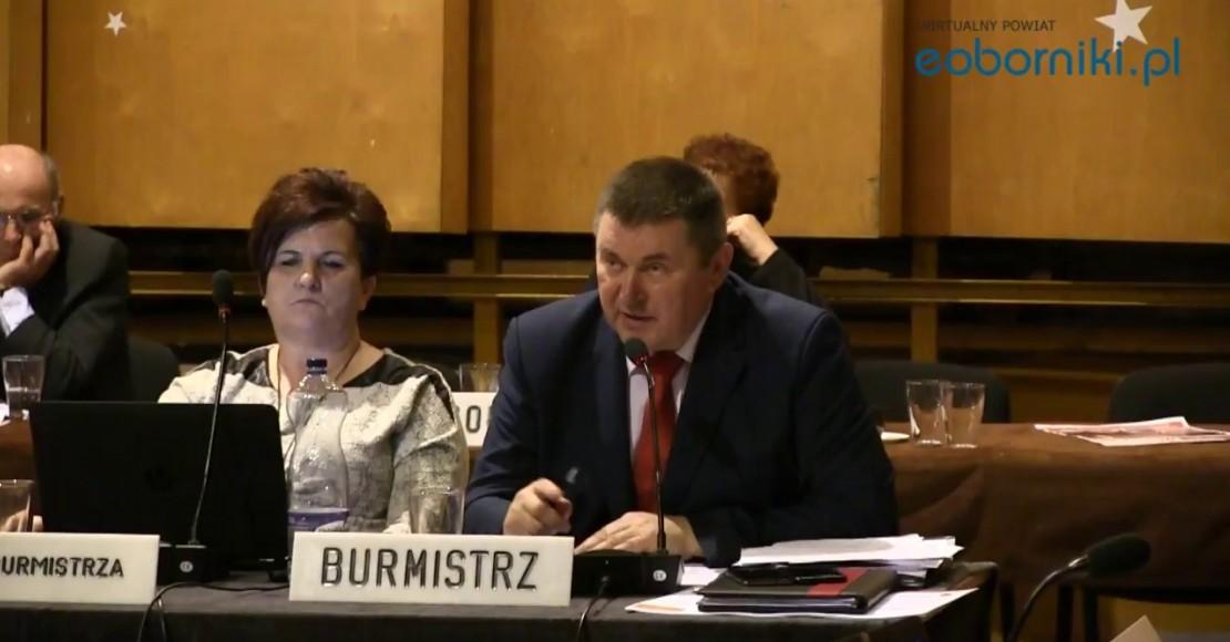 Burmistrz Rogoźna z absolutorium za rok 2017