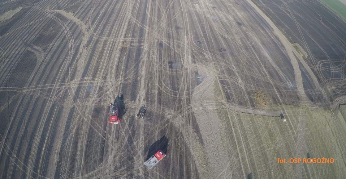 Pożar w Karolewie - zdjęcia i film z drona