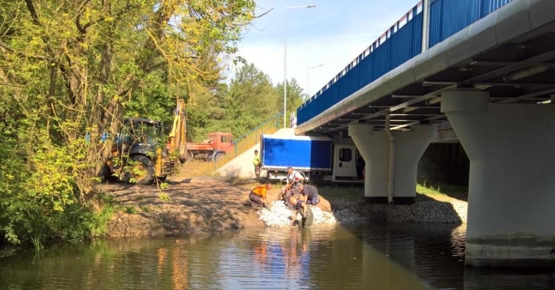 Niski stan Wełny pozwolił dokończyć prace w Kowanówku