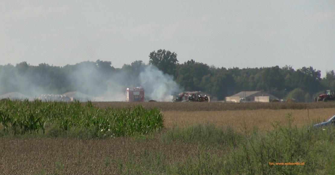 Pożar zboża w Karolewie (foto)