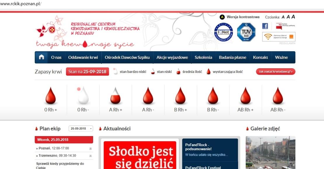 W Obornikach krew oddasz 5 października