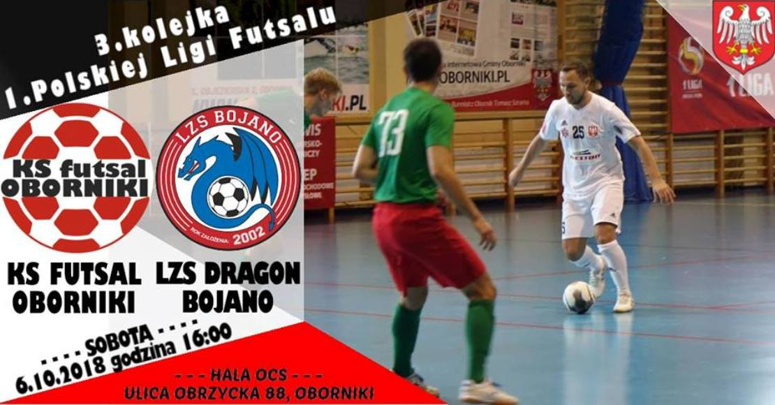 Futsal Oborniki gra z Dragon Bojano(film)