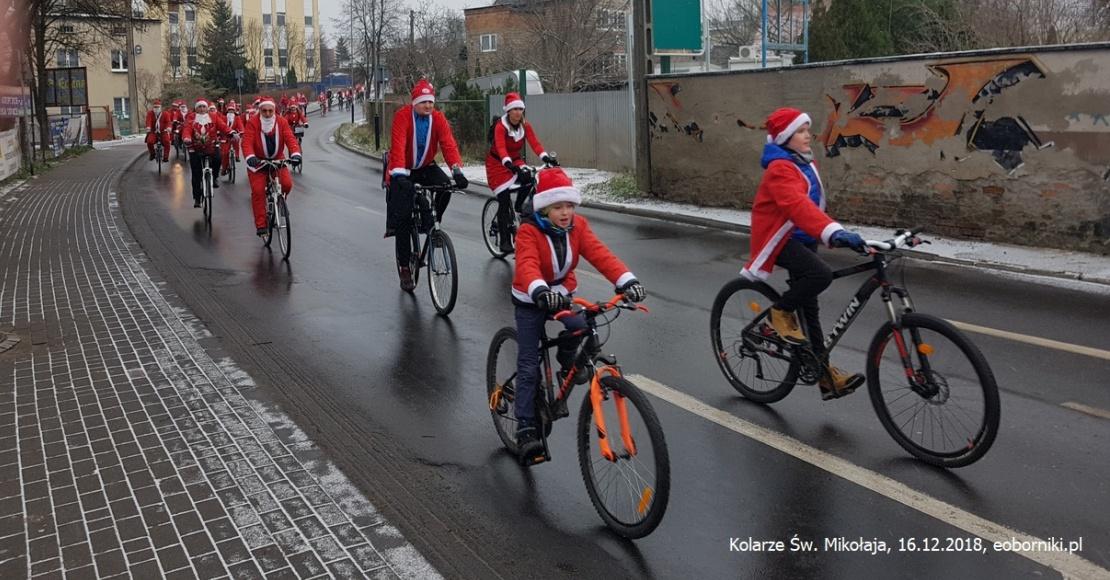 Kolarze Św. Mikołaja w Obornikach (foto)