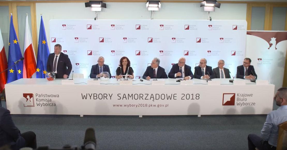 Numery dla ogólnopolskich list kandydatów komitetów wyborczych