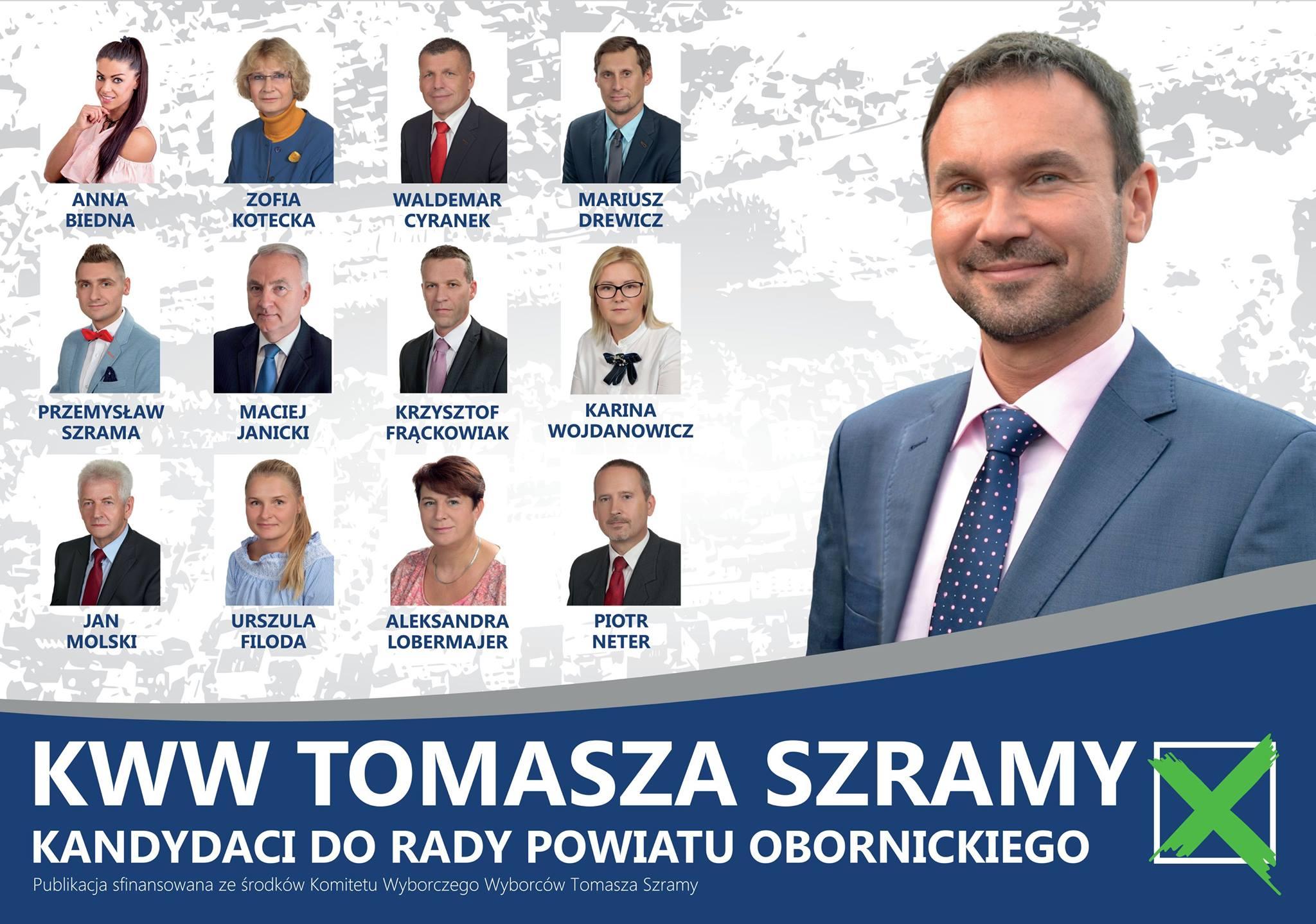 rada powiatu obornickiego kww tomasza szramy