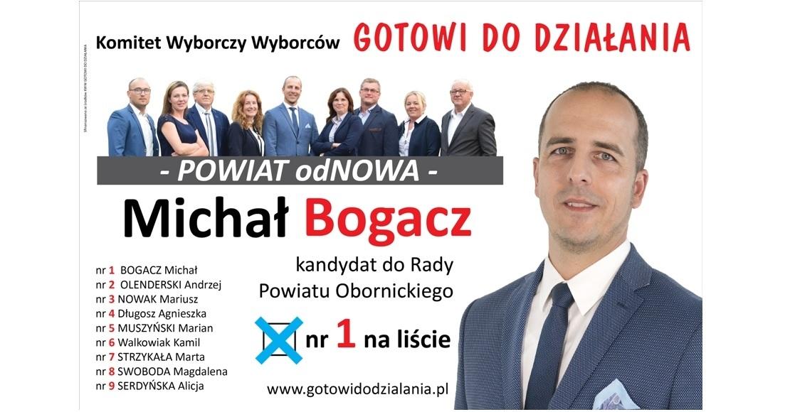 Dlaczego Michał Bogacz nr 1 na liście kandyduje do Rady Powiatu? (film)