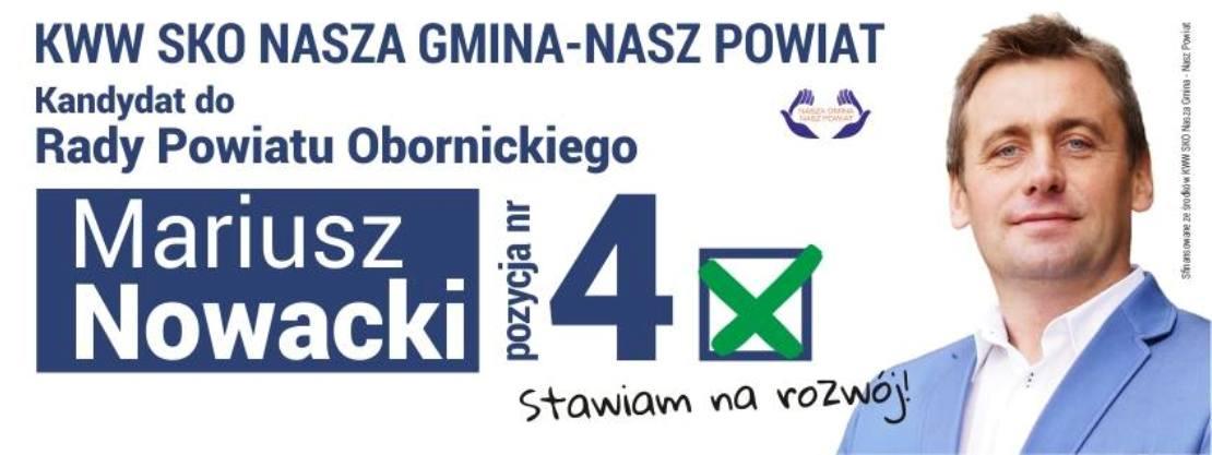 Mariusz Nowacki kandydatem do Rady Powiatu Obornickiego (film)
