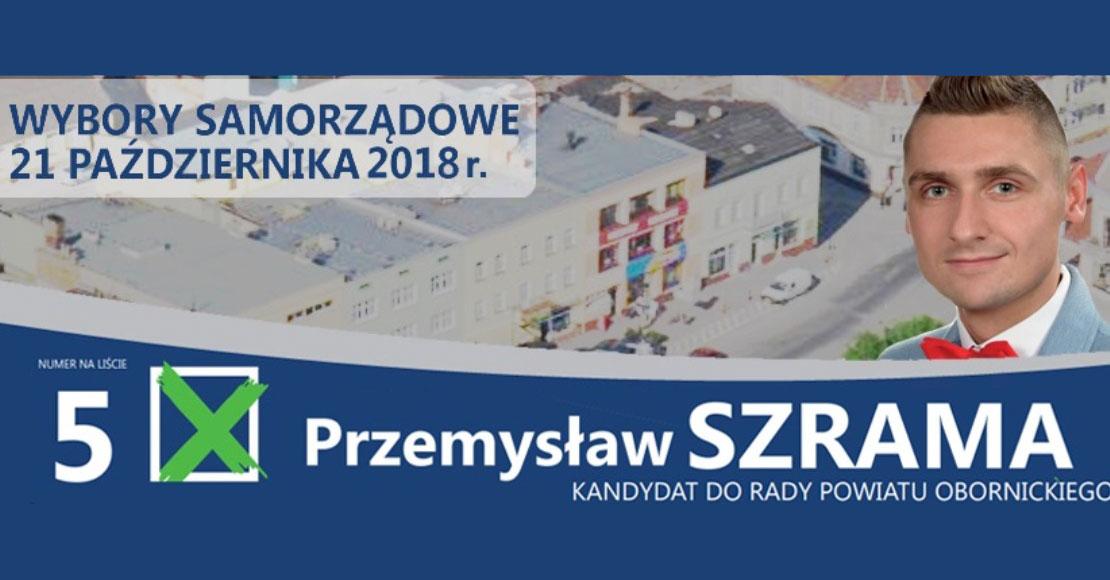 Czarny koń na liście KWW Tomasza Szramy do Rady Powiatu Obornickiego?