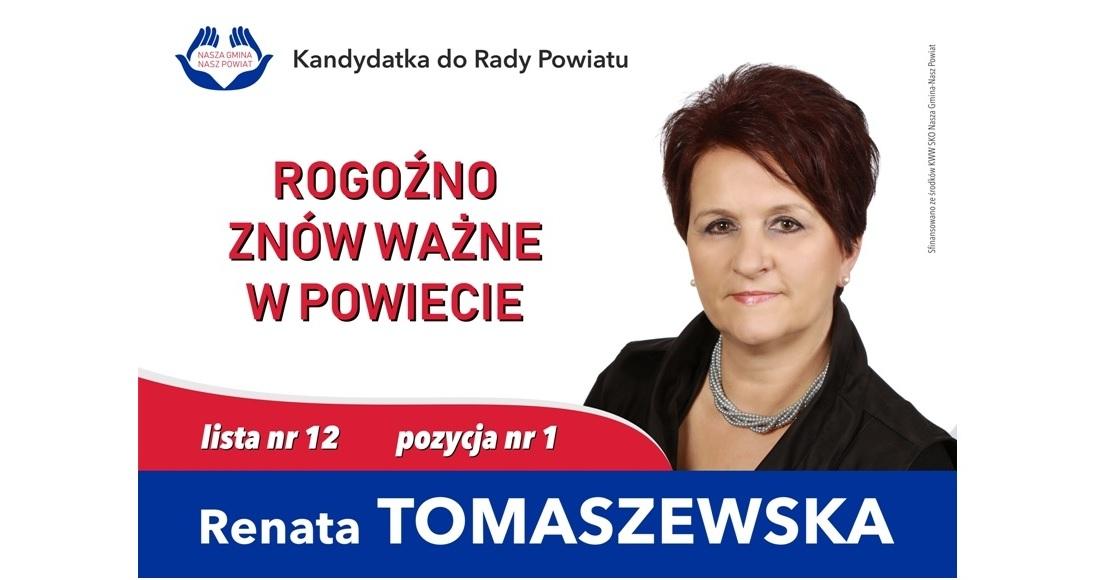 Renata Tomaszewska liderem listy Nasza Gmina-Nasz Powiat