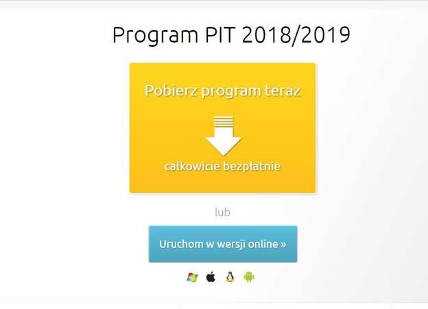 Rozlicz PIT za 2018 online lub Programem PIT