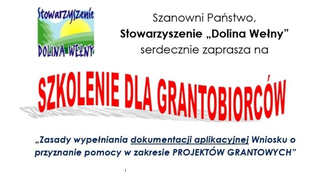 LGD Dolina Wełny organizuje szkolenie dla grantobiorców (film)