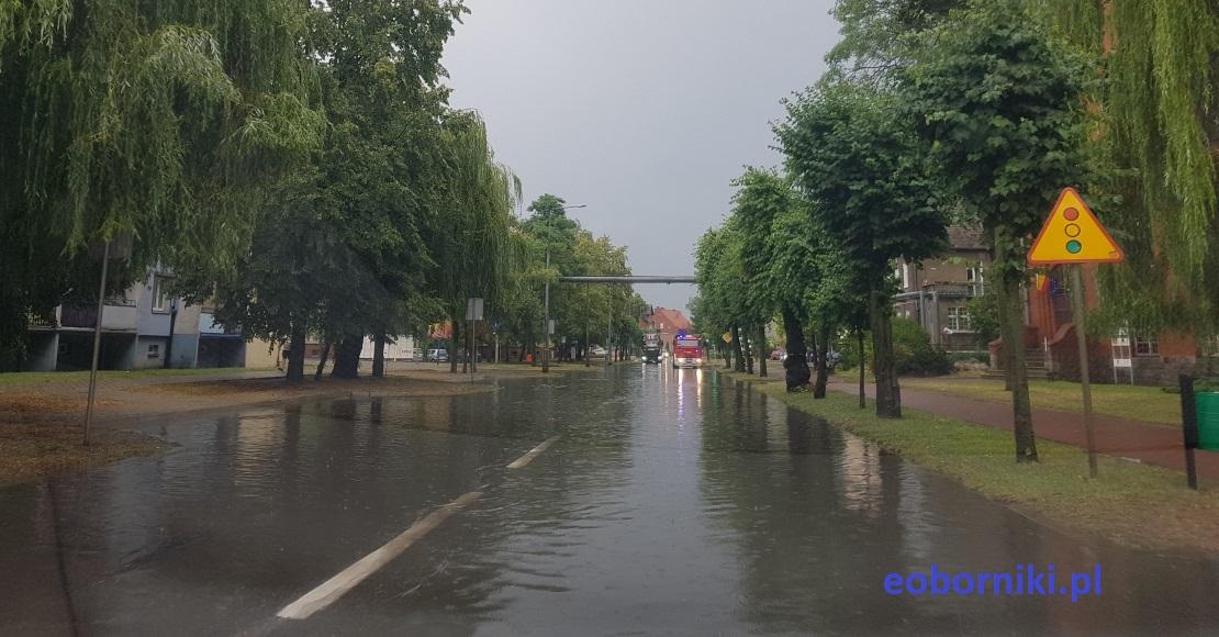 Zalane ulice w Rogoźnie (foto)