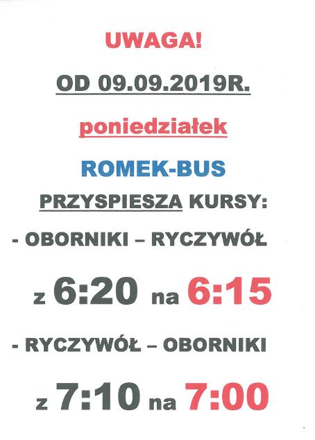 gmina ryczywół romek bus