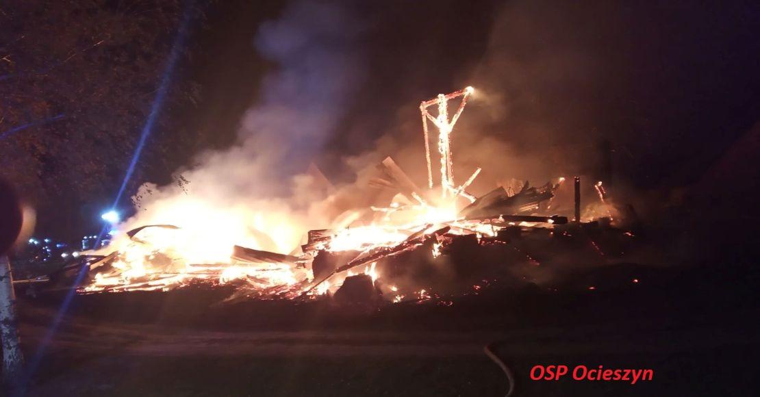 Pożar stodoły w Uścikowie. Podpalenie?