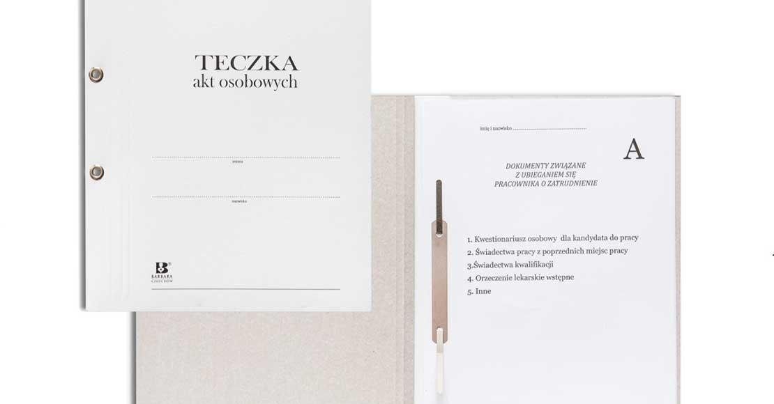 Teczki na akta osobowe, czyli jak archiwizować dokumenty w firmie