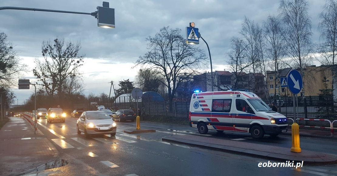W Bogdanowie potrącono na przejściu dla pieszych mężczyznę