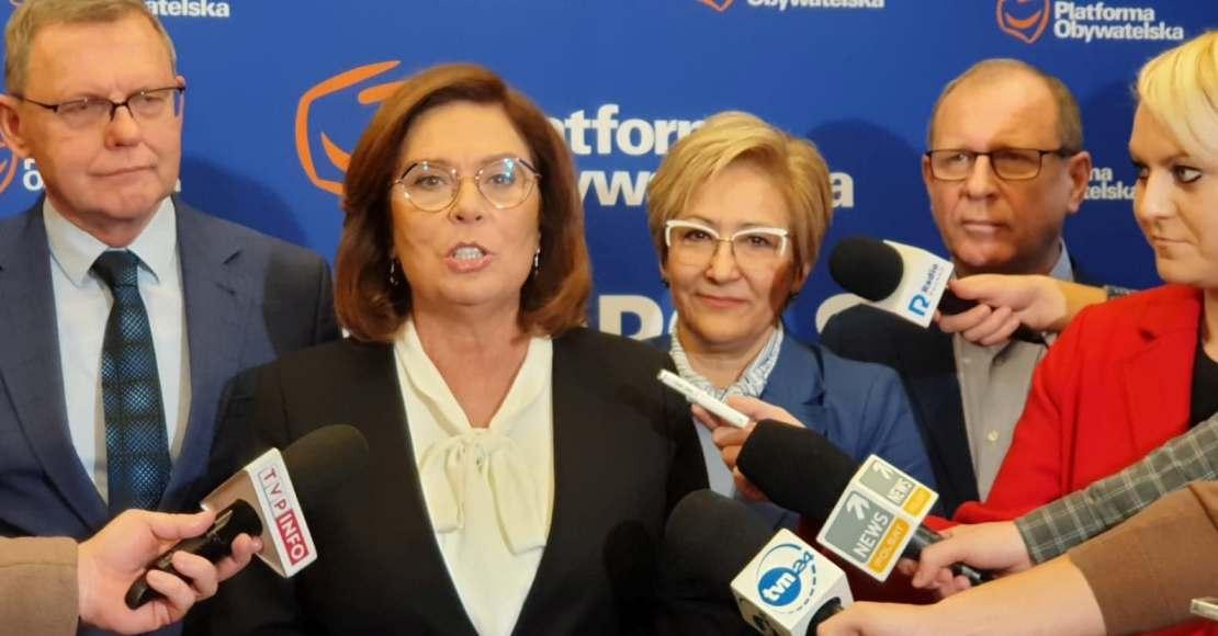 Małgorzata Kidawa-Błońska odwiedzi w czwartek Oborniki