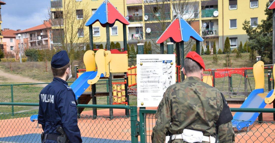 Policja i Żandarmeria Wojskowa na ulicach całego powiatu
