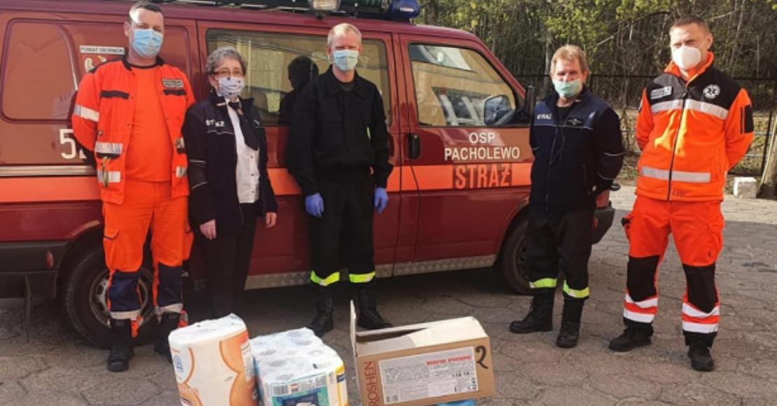 Ochotnicy z Pacholewa dołączyli do walki z koronawirusem