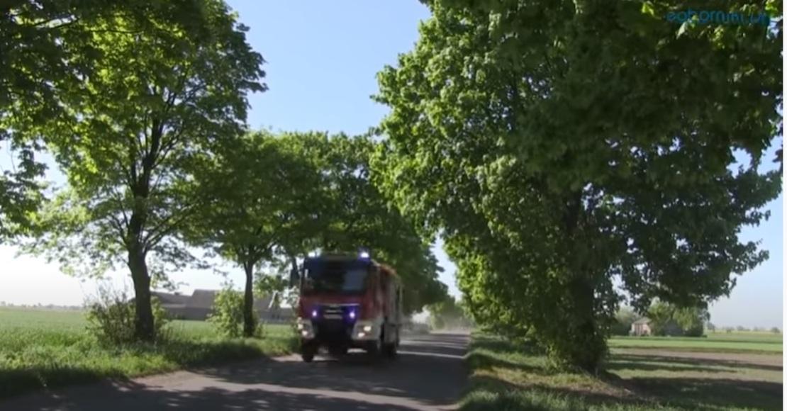 Palił się samochód ciężarowy w Wargowie