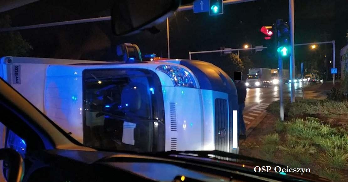 Wypadek na skrzyżowaniu ulic Mostowej i Lipowej w Obornikach