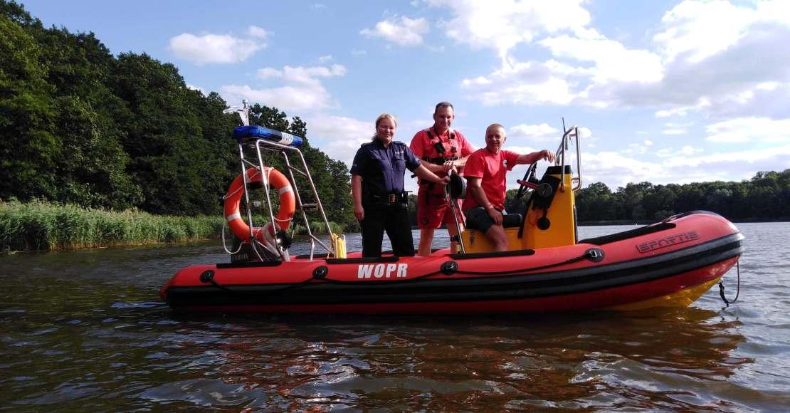 Wspólne patrole na Jeziorze Rogoźno