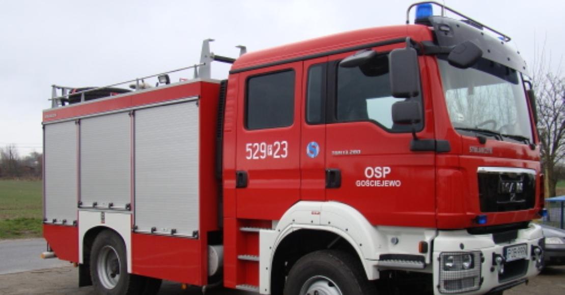 Jedna osoba poszkodowana w Gościejewie