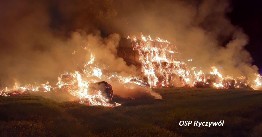 Pożar stogu w Gościejewku (foto)