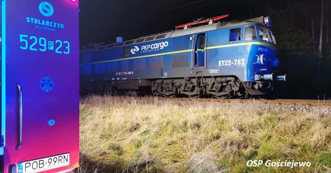 Pożar lokomotywy. DK11 była zablokowana przez kilka godzin (foto)