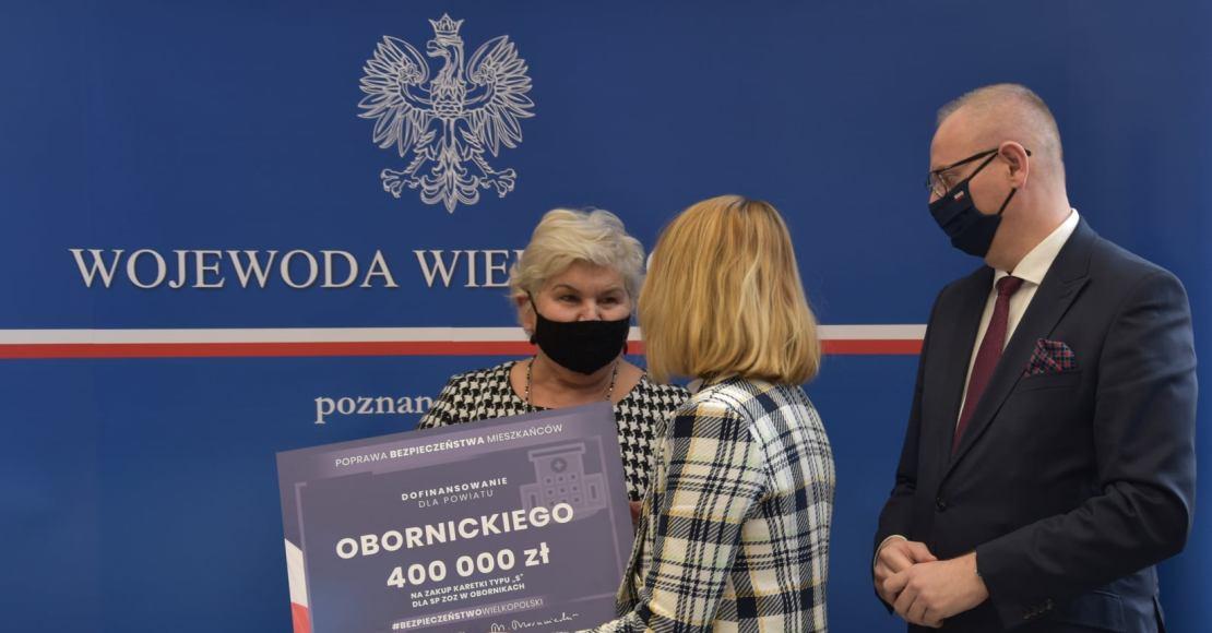 400.000 zł na karetkę dla Powiatu Obornickiego (foto)