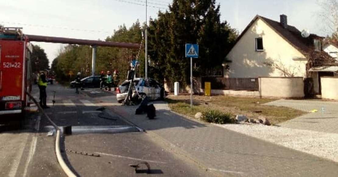 Wypadek na ul. J. Kubiaka. Ewakuowano mieszkańców pobliskich domów