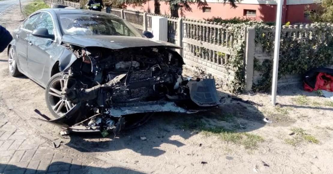 Wypadek w Popówku (foto)