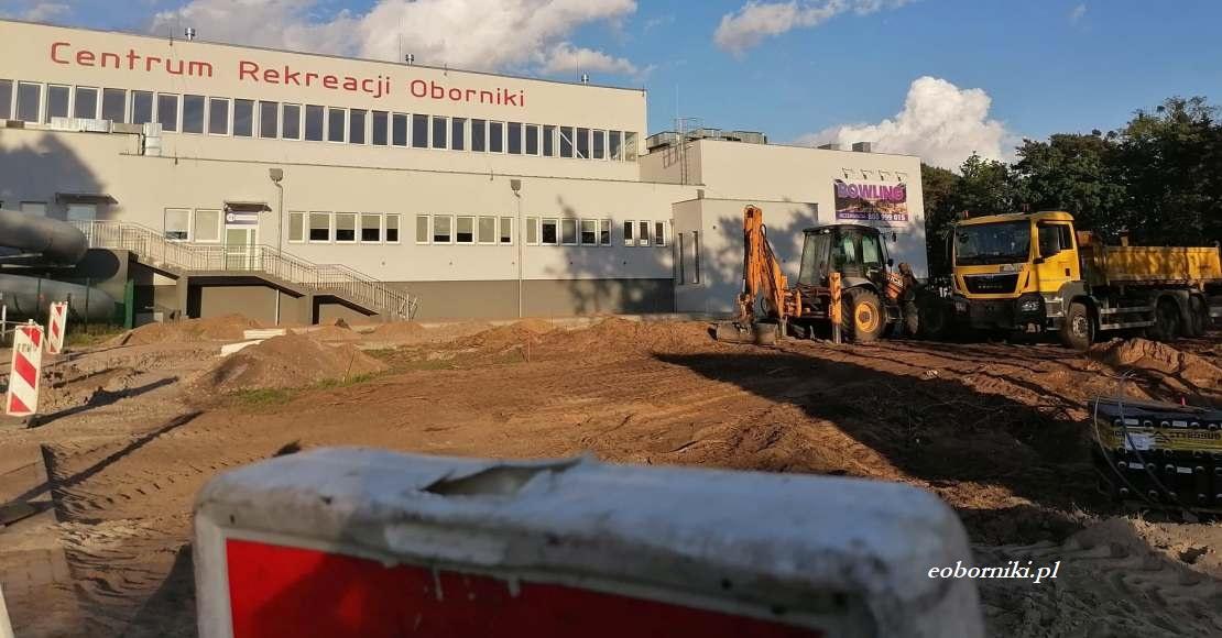 Powstaje parking przy Centrum Rekreacji Oborniki (foto)