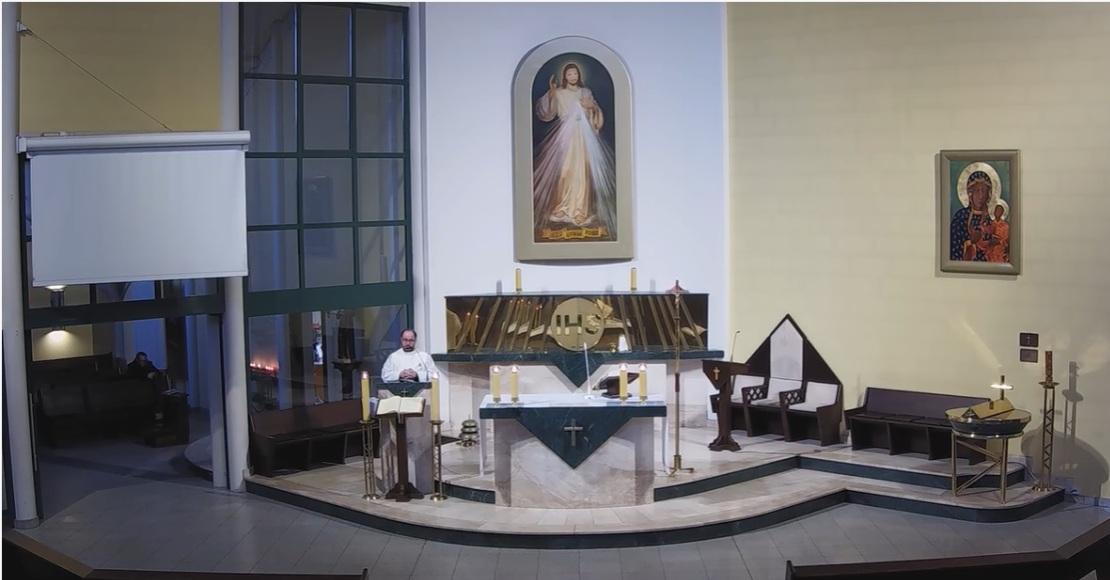 Internetowe msze św. w kościele Miłosierdzia Bożego i św. Wita