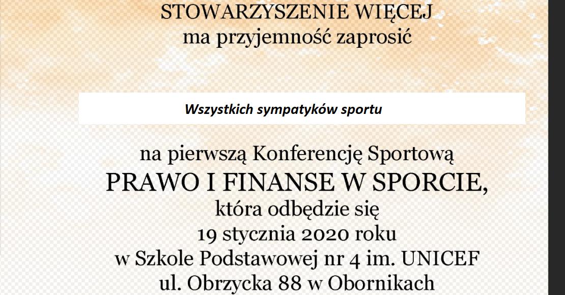 Konferencja Sportowa 2020. Święto sportu w Obornikach?
