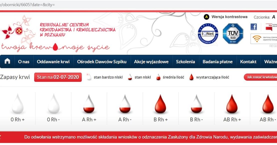 W niedzielę oddasz krew w Ludomach
