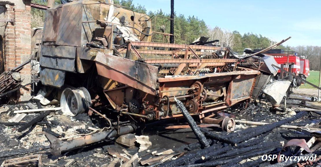 Spłonął sprzęt rolniczy w Radomiu (foto)