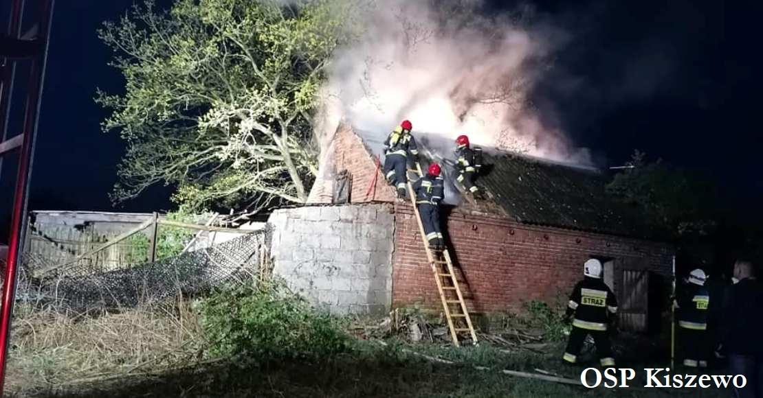 Pożar w Kiszewie  (foto)