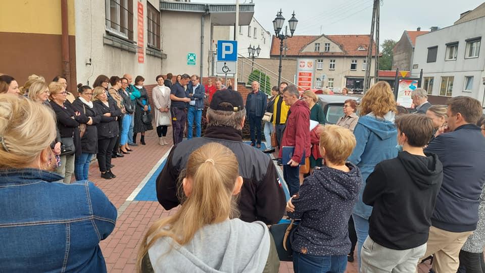 Ewakuacja UM w Rogoźnie - ćwiczenia
