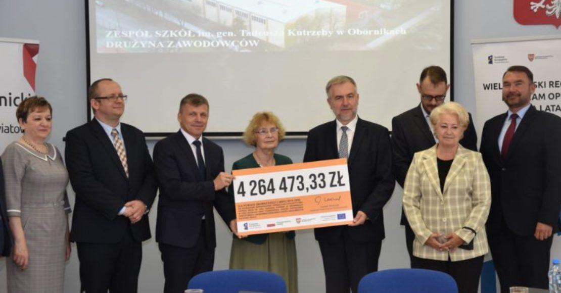 Umowa na dofinansowanie Zespołu Szkół im. Gen. T. Kutrzeby podpisana