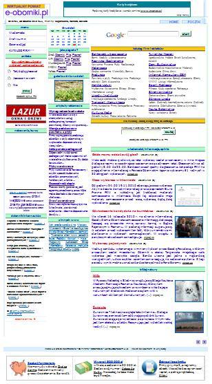 Wygląd e-oborniki.pl do 31.12.2010