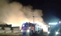 Trwa dogaszanie pożaru w Objezierzu